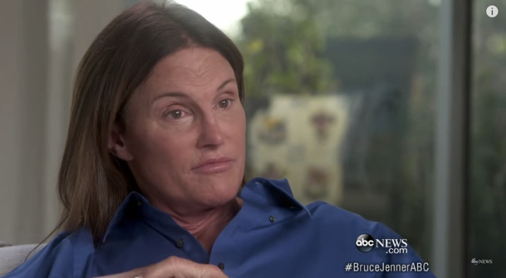 Screenshot from Bruce Jenner from Diane Sawyer's Interview. Via YouTube.