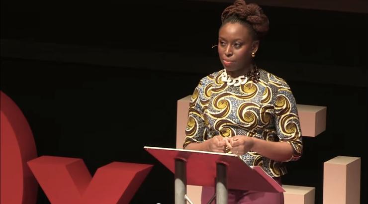 "Screenshot of Chimamanda Ngozi Adichie's TEDxTalk: ""We Should All Be Feminists"""