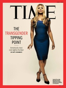 Laverne Cox on the cover of Time Magazine for the June 2014 issue.